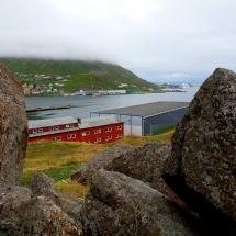 Blick auf Wanderweg in Honningsvåg