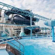 Erstanlauf der MSC Merviglia in Hamburg - MSC Kreuzfahrten Aqua Park Polar