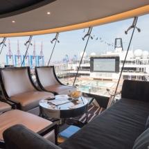Erstanlauf der MSC Merviglia in Hamburg - MSC Kreuzfahrten Sky Lounge Pooldeck