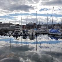 Hafenimpression in Tromsø mit MS The World