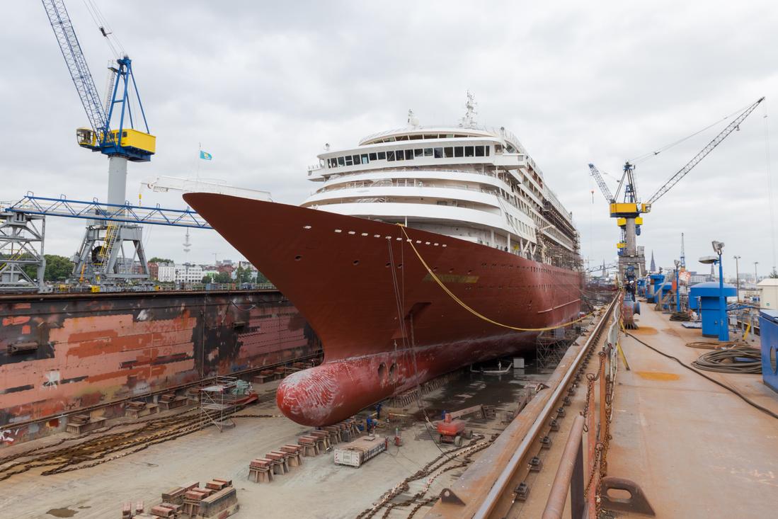 Erste Bilder aus der Werft: Hier wird aus der Prinsendam die Amera für Phoenix Reisen