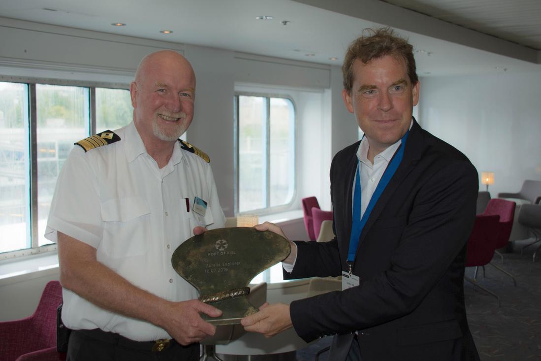 Erstanlauf der Marella Explorer von Marella Cruises im Kieler Hafen